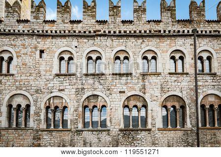 Facade Of The Praetorian Palace In Trento, Italy.
