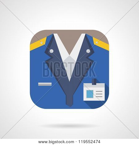 Railway staff flat color design vector icon