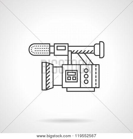 Film camera flat line design vector icon