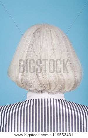 Woman with bob hairstyle