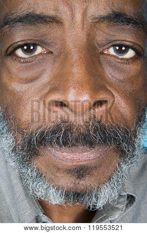 Senior African American man