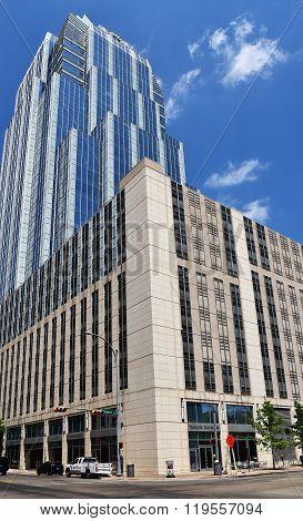 Usa-austin In Texas,2015.skyscraper On The Brazos Street In Austin In Texas,2015