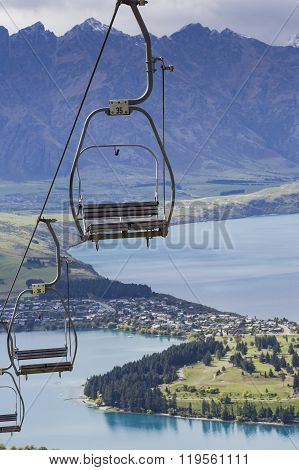 Cablecar View Of Queenstown And Lake Wakatipu