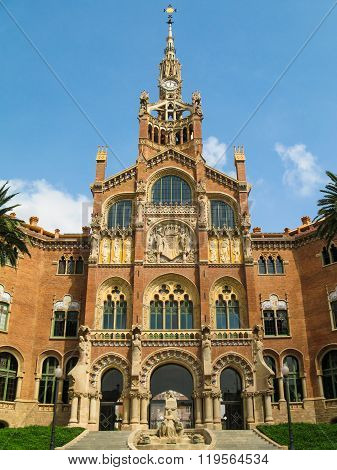 Hospital of  the Holy  Cross and  Saint  Paul  , Barcelona, Spain.