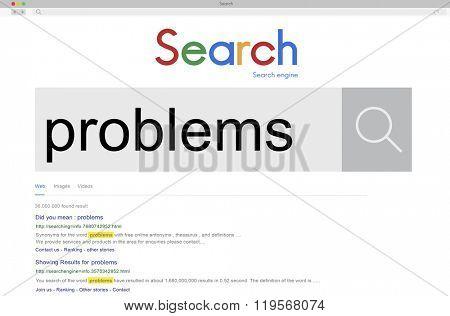 Problems Challenge Mistake Recession Trouble Concept