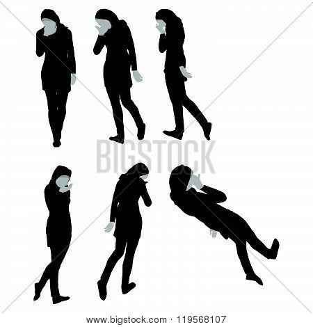 Muslim Woman Silhouette In Sorrow Pose