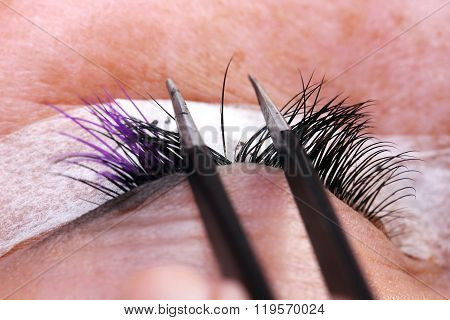 Extension Eyelashes, Beauty Concept