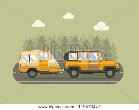 Road Traveler Suv And Camper Trailer Concept