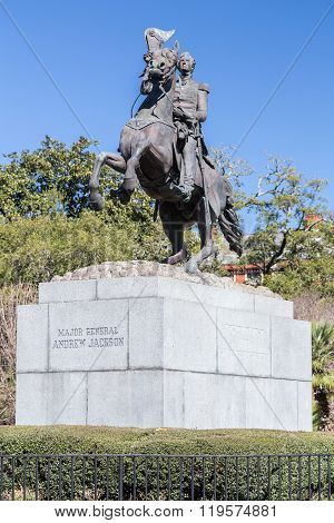 Jackson Monument In French Quarter, New Orleans,  Louisiana