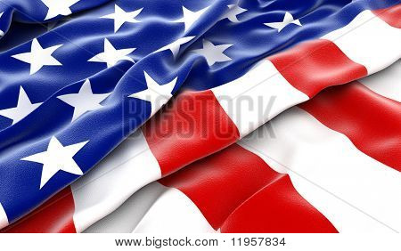USA flag - 3D render