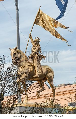 Joan of Arc Statue Monument in New Orleans Louisiana poster