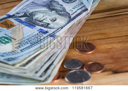 Chash Money On A Table