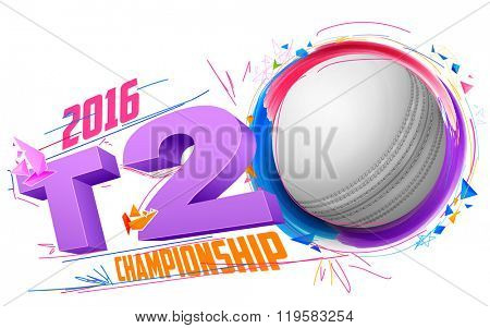 illustration of cricket ball for T20 Cricket Championship