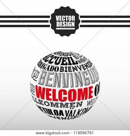 welcome icon design