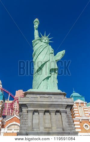 Likeness Of Statue Of Liberty Statue At New York-new York Casino