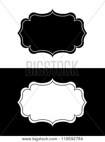 Vector Ornate Frame in Black and Reverse