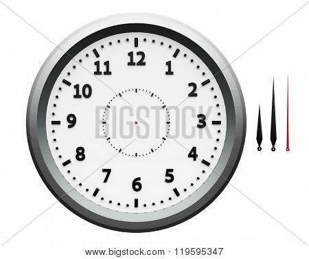 Metal Clock With Arrows