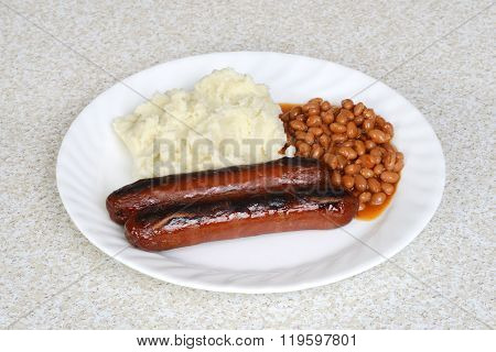 english bangers and mashed potatoes