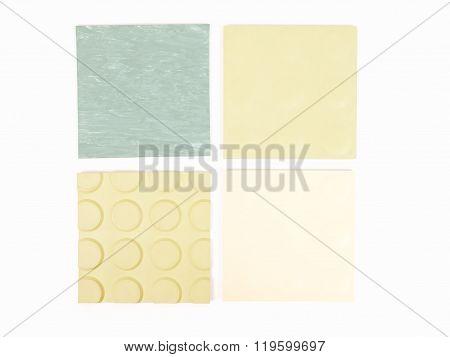 Green Rubber Linoleum Sample Vintage