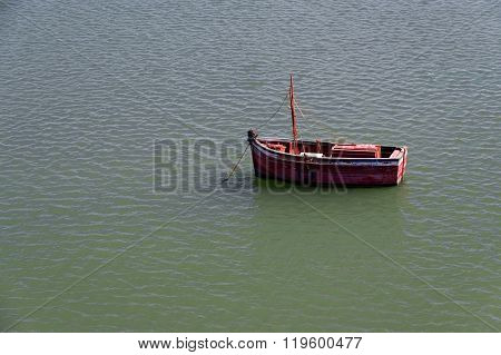 Fishing boat in El Jadida, Morocco, Africa