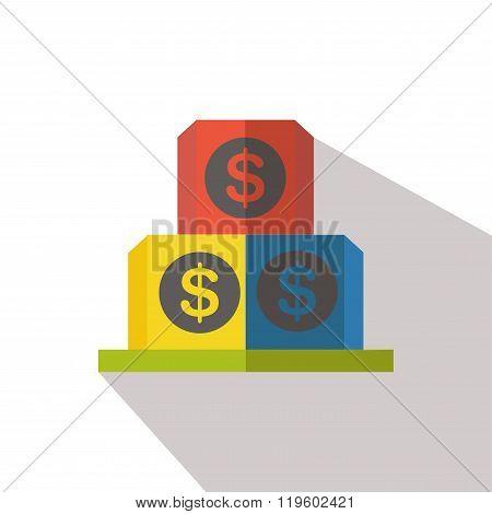dollar sign flat icon