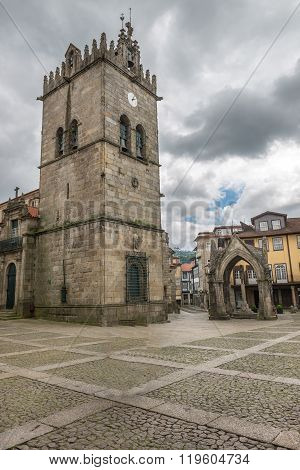 Oliveira Square In Guimaraes, Portugal.