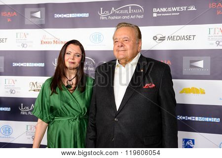 FEBRUARY 22, 2016: The actor Paul Sorvino and his wife Dee Dee Benkie at the Los Angeles Italian Film Festival.