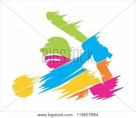 Baseball full colors abstrack