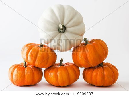 Pumpkins stacked