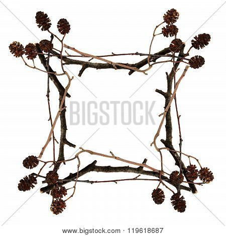 Frame Made From Dry Twigs