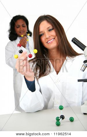 Team of workers in a lab