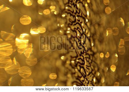 Glossy Beautiful Gold Glass Refraction