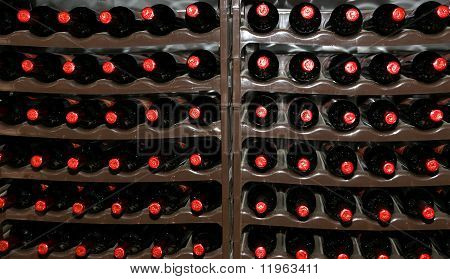 Wine Cellar, Bottles Of Wine In Storage