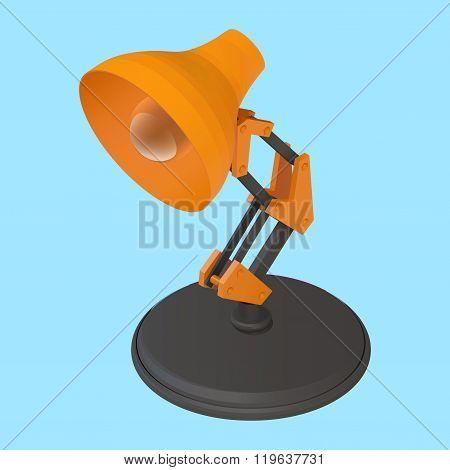 reading desk lamp isometric vector