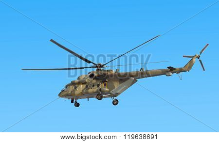 USSURIISK, RUSSIA - MARCH 24: Mi-8 military transport helicopter