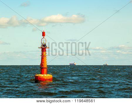 Buoy On Sea