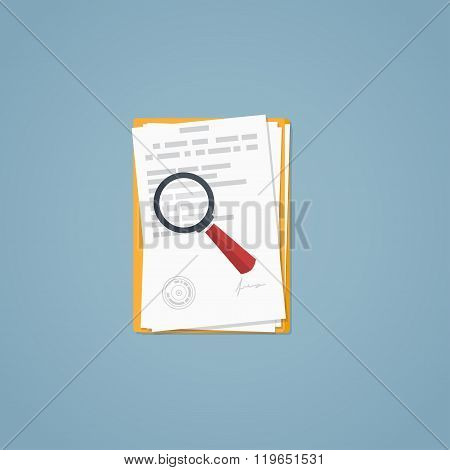 Magnifying Glass Documents
