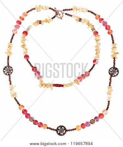 Two Strings Of Necklace From Natural Gemstones