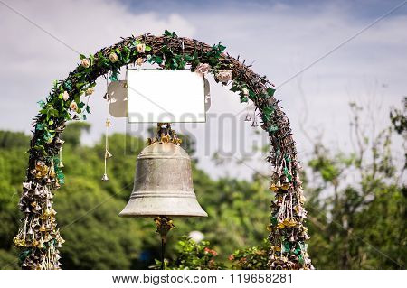 Beautiful Flowers And Wedding Bell