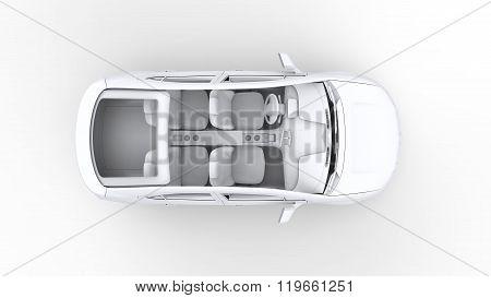 3D Rendering Car, Top View