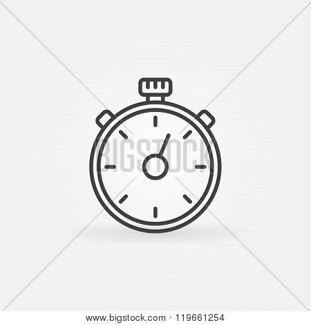 Timer line vector icon