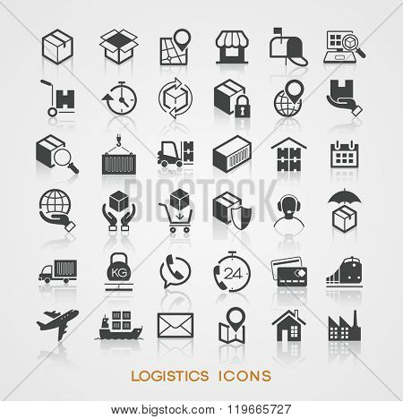 Set Logistics icons. Trendy vector elements.  Modern flat design..  The file is saved in the version 10 EPS.