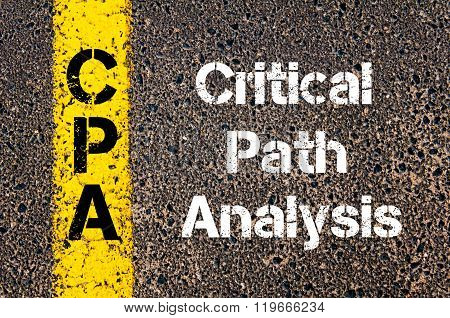Business Acronym Cpa Critical Path Analysis