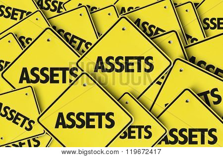 Assets yellow multiple sign