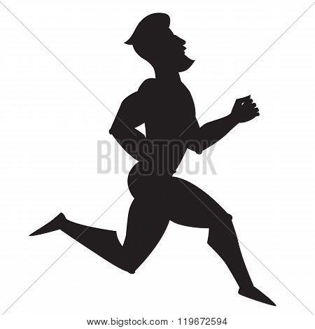 Silhouette vector illustration. Running