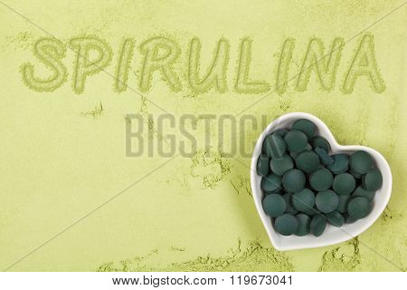 Green Food Supplement Background.