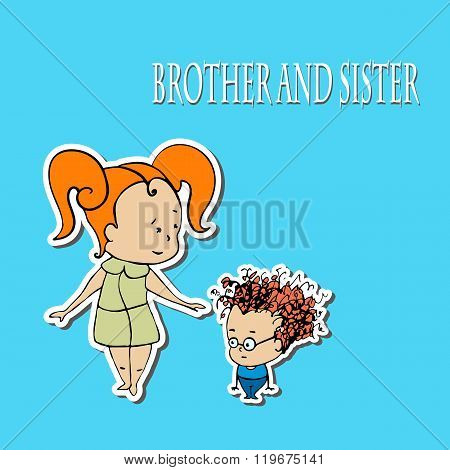 Stock Vector Brother And Sister Greetings