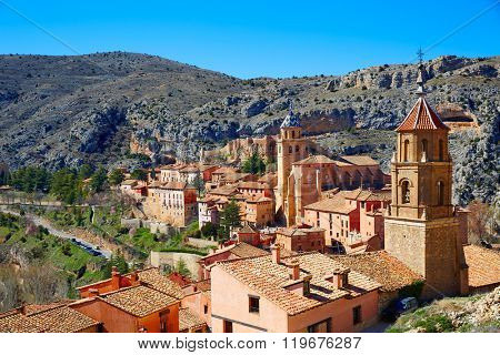 Albarracin medieval town village at Teruel Spain