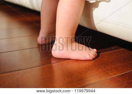 Children Bare Feet, Beside To Bed