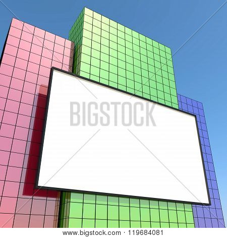 Billboard and buildings